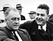 President Franklin Roosevelt and Gov. Richard Leche during a visit to New Orleans.