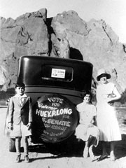 Huey Long's family on the road for his U.S. Senate campaign
