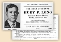 'Our Next Governor' Huey P. Long.