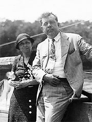 Huey Long with U.S. Senate candidate Hattie Caraway
