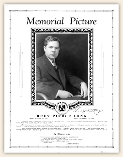 Huey Long Memorial Picture