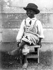 A poor African American boy in Depression-era Louisiana.