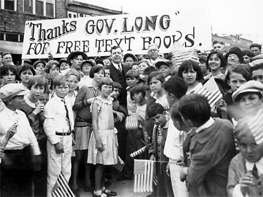 Children thank Huey Long for the free text books provided by his administration.