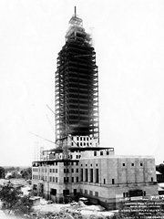 Construction of the Louisiana State Capitol by the Huey Long administration