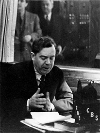 Huey Long addressing the nation on CBS radio